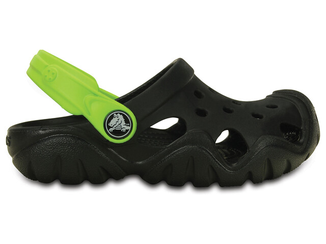 Crocs Swiftwater Clogs Kids Black/Volt Green